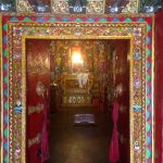 Entrance to the monastery in Tibet