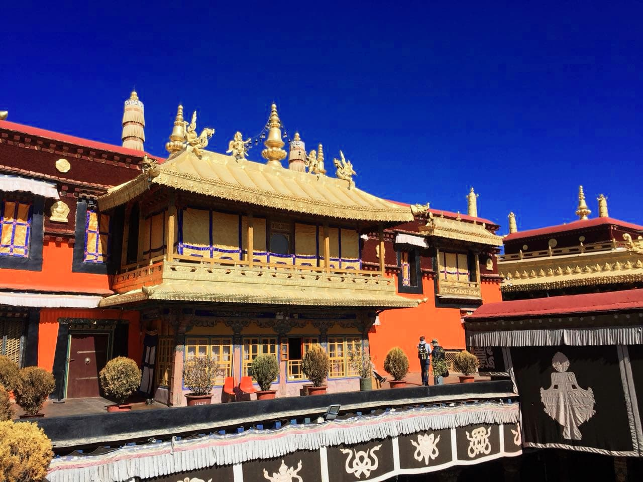 The view on the Living Quarters of the Dalai Lama in the Jokhang Temple