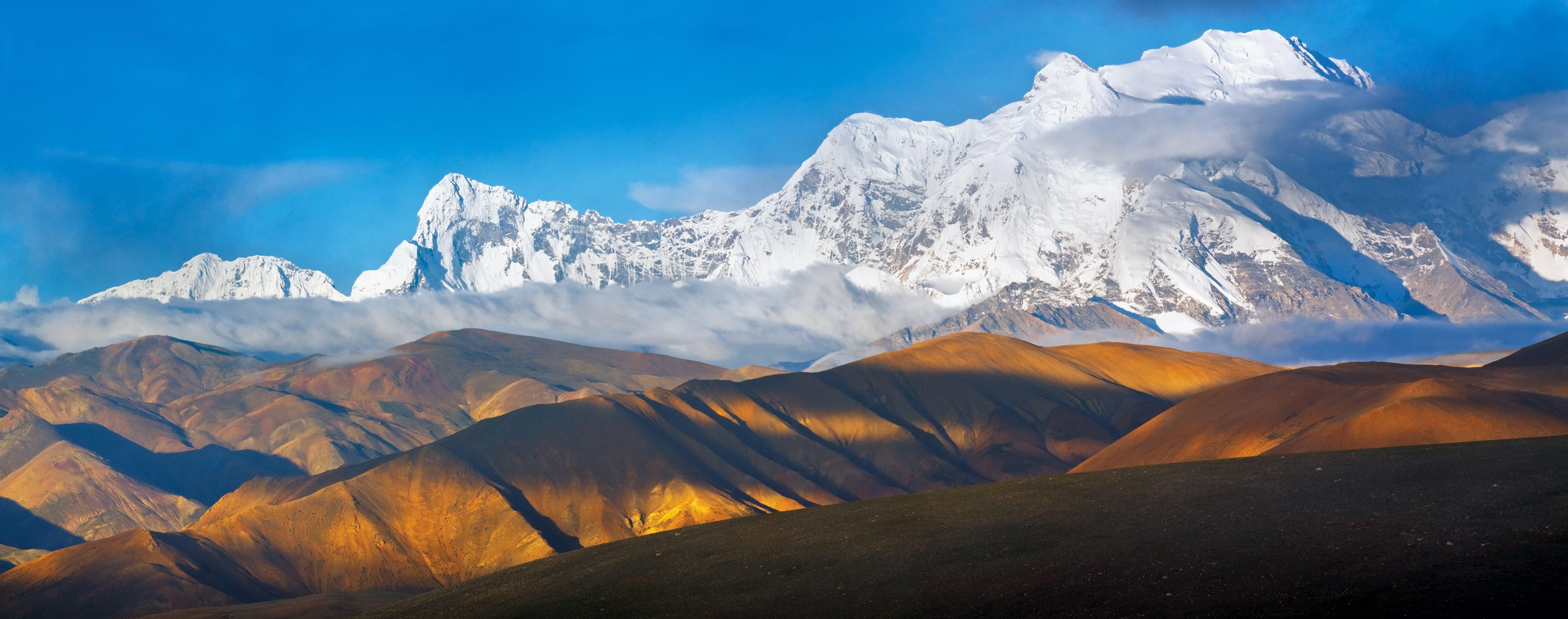 Panorama of the Shishapangma Mountain in Tibet
