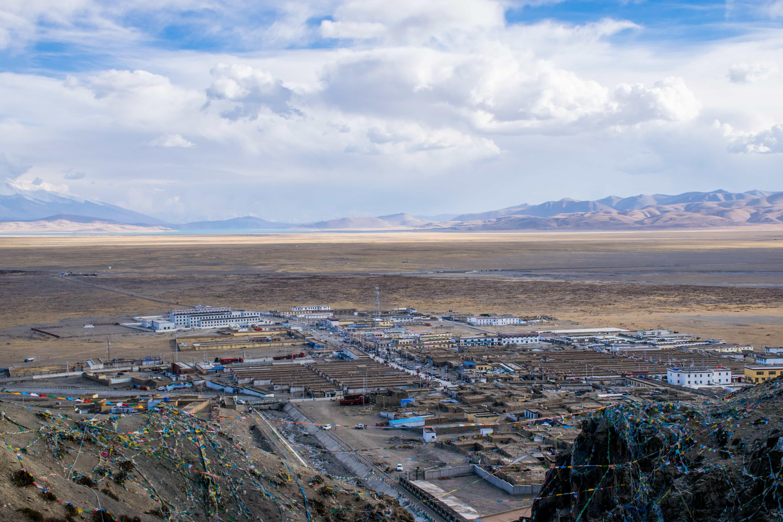Darchen city in Western Tibet