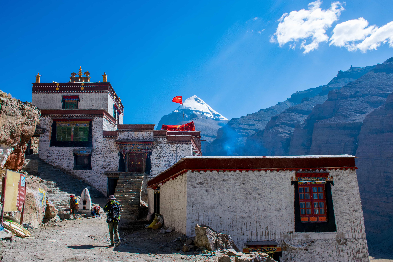 Dira Puk Monastery on the Kailash kora in Tibet