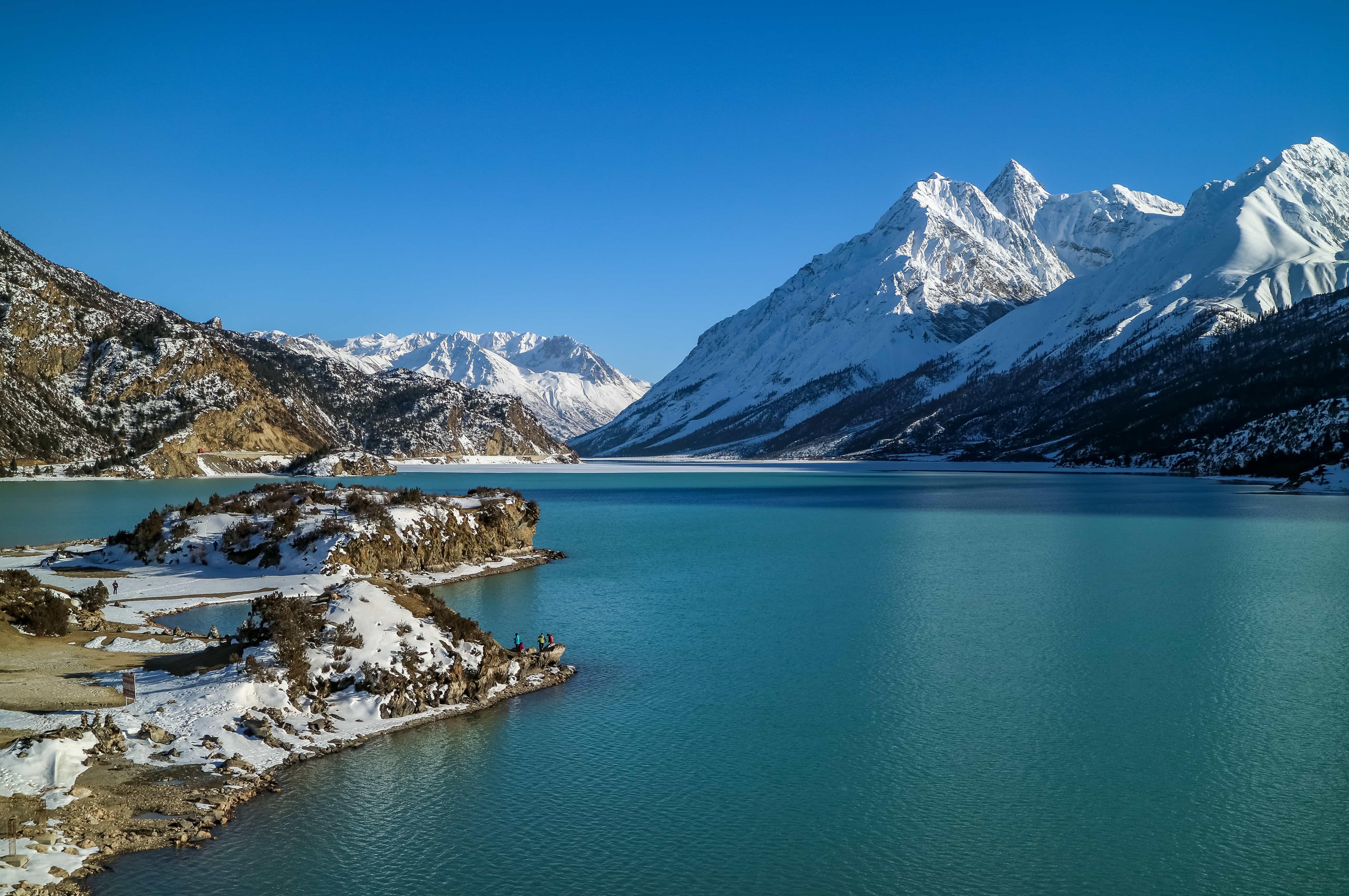 Ranwu lake in Nyingchi, Eastern Tibet