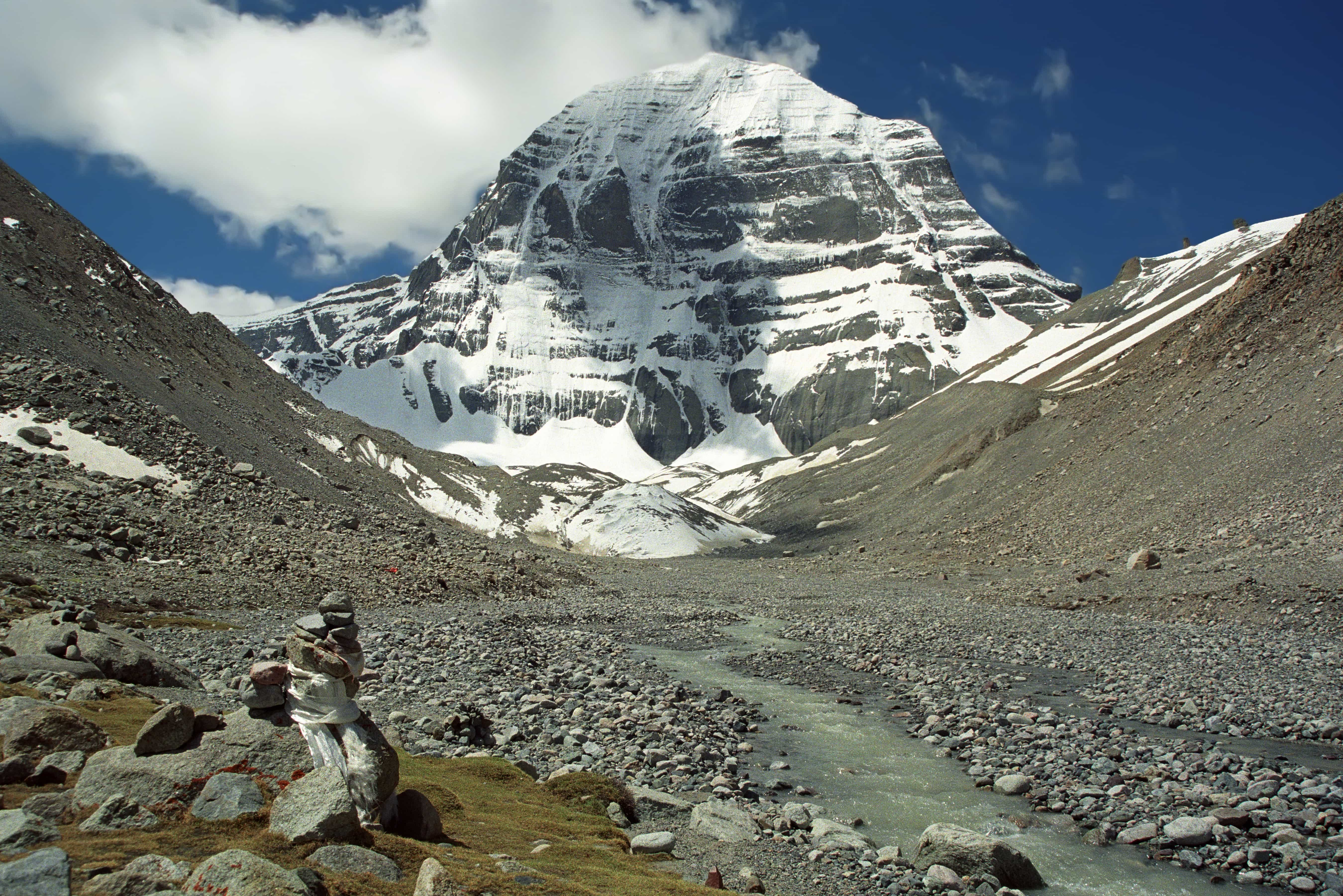 Source of Indus River at the North Face of Mount Kailash