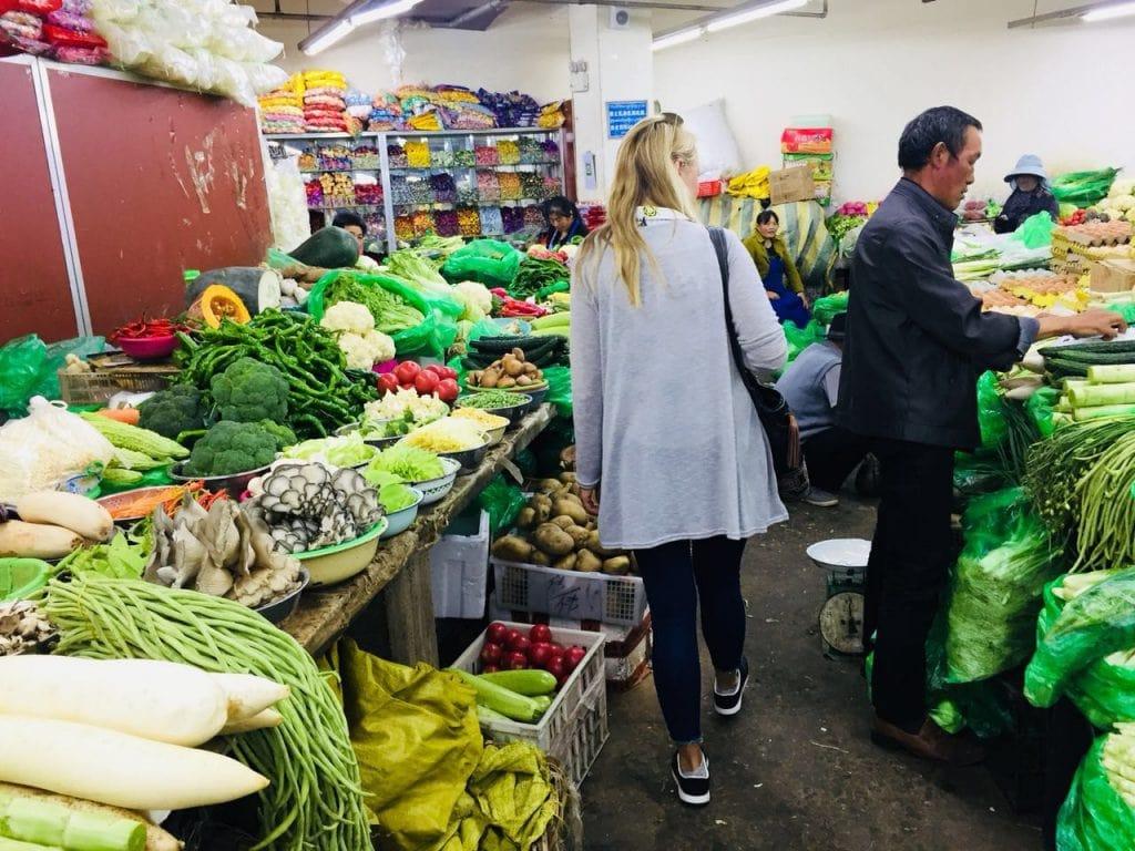 Vegetable Market in Lhasa