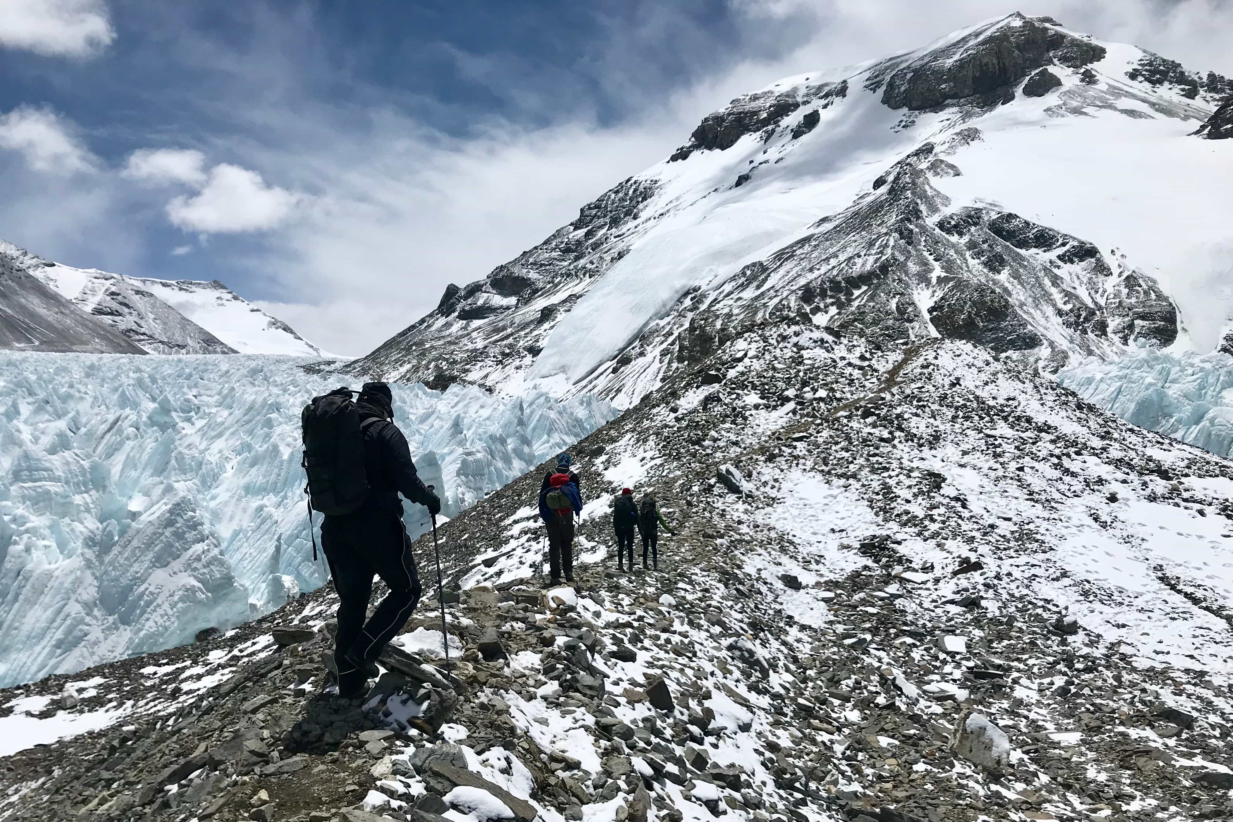 Northern ascent to Mount Everest in Tibet