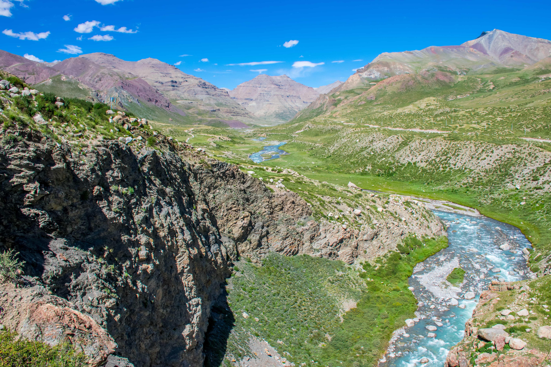 Valley on the third day of trekking around Mount Kailash in Tibet