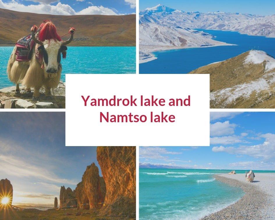 Yamdrok lake or Namtso lake in Tibet