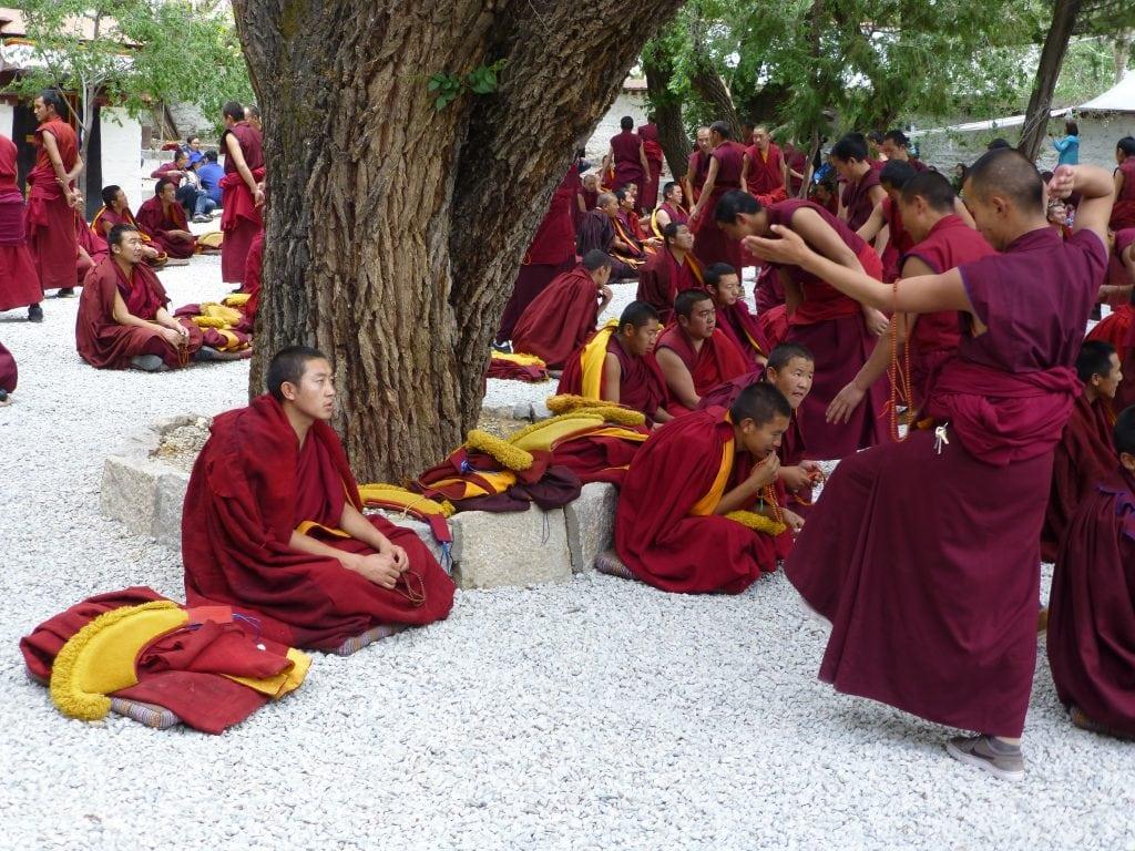 Monks in Sera Monastery,Lhasa, Tibet