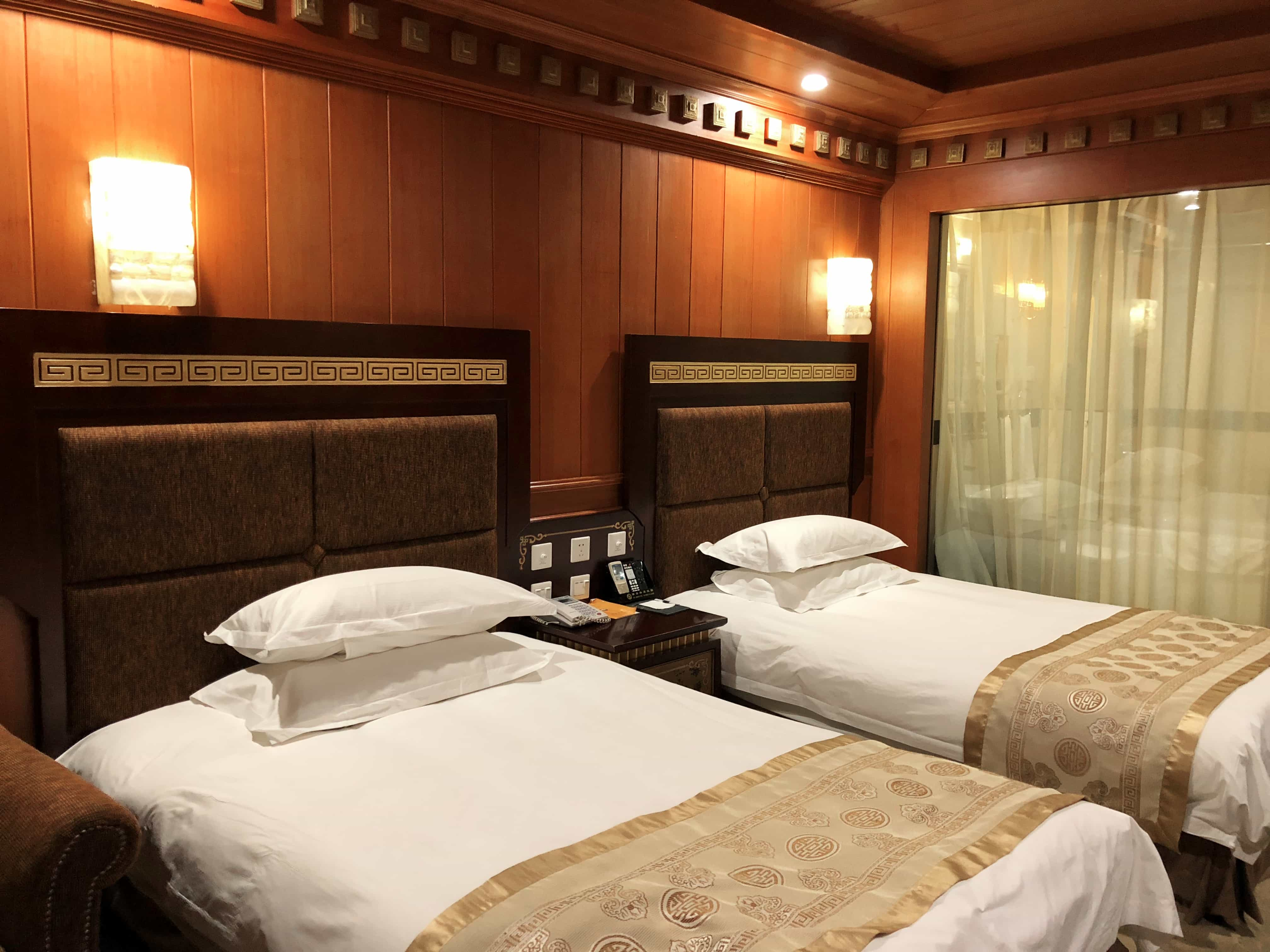 Twin room in Yak hotel, Lhasa