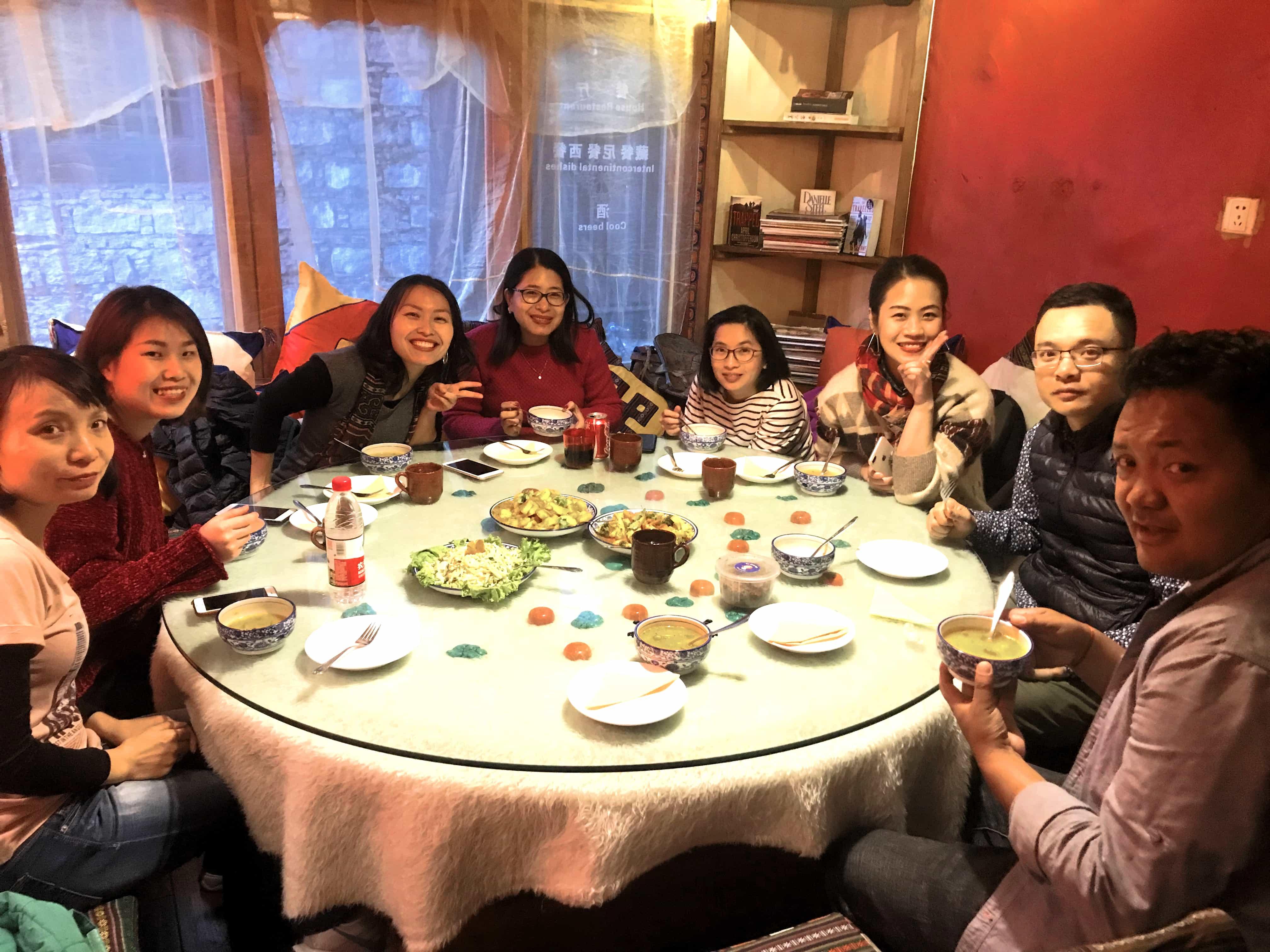 Dinner in Shambhala House Restaurant, Lhasa