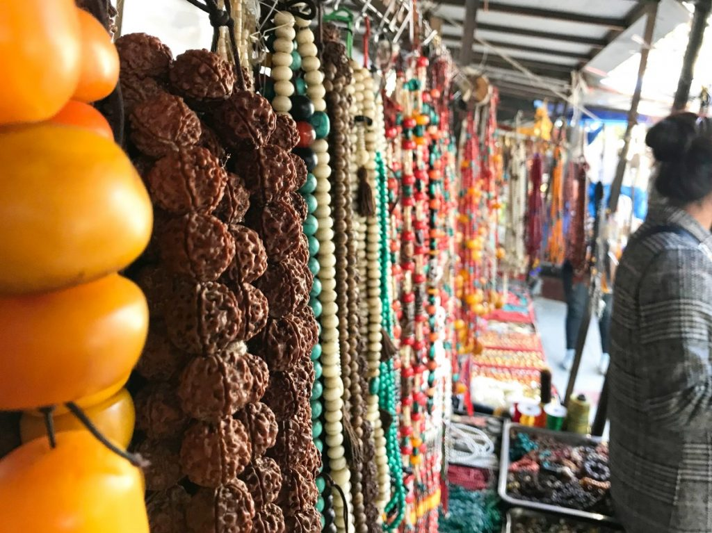 Beads for sale in Tibet