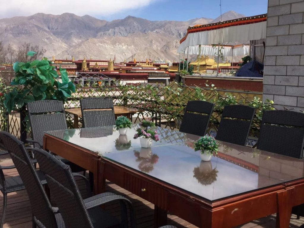 Roof top terrace in Family Kitchen, Lhasa