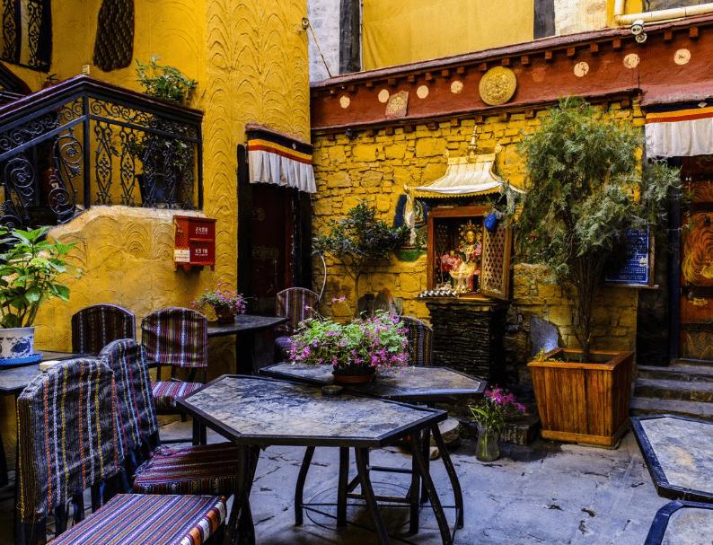Seating in House of Shambhala restaurant