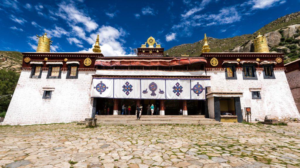 Main assambly hall of Sera monastery in Lhasa