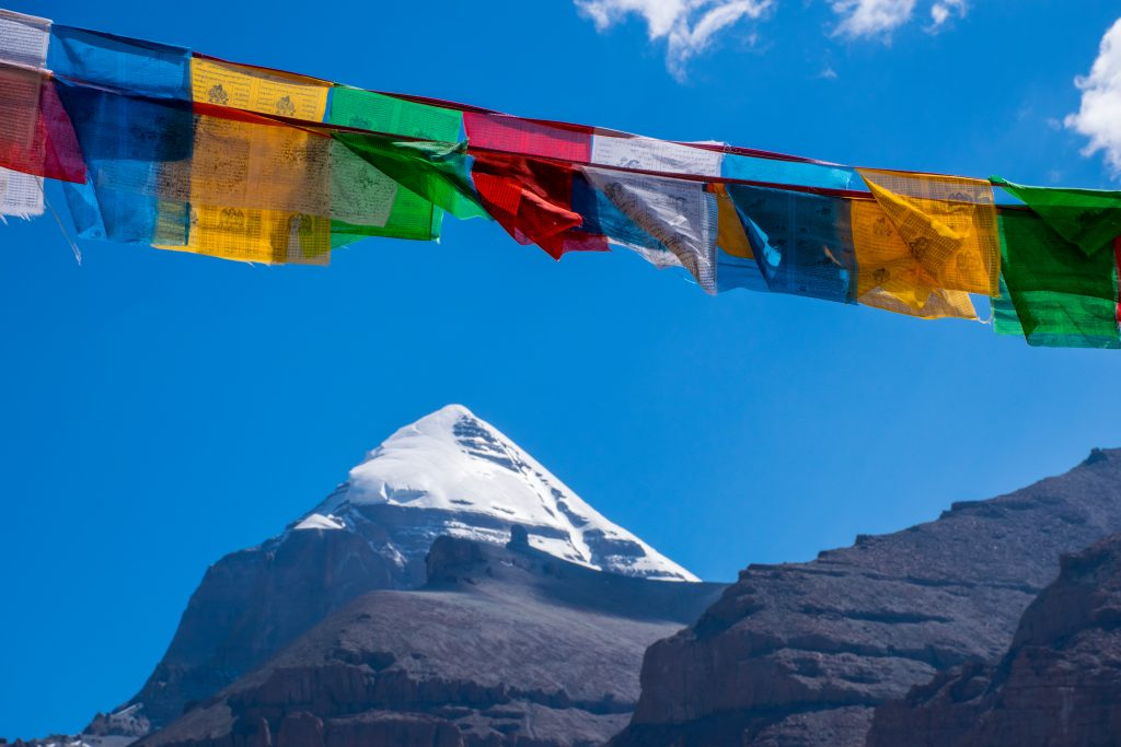 Mount Kailash and prayer flags