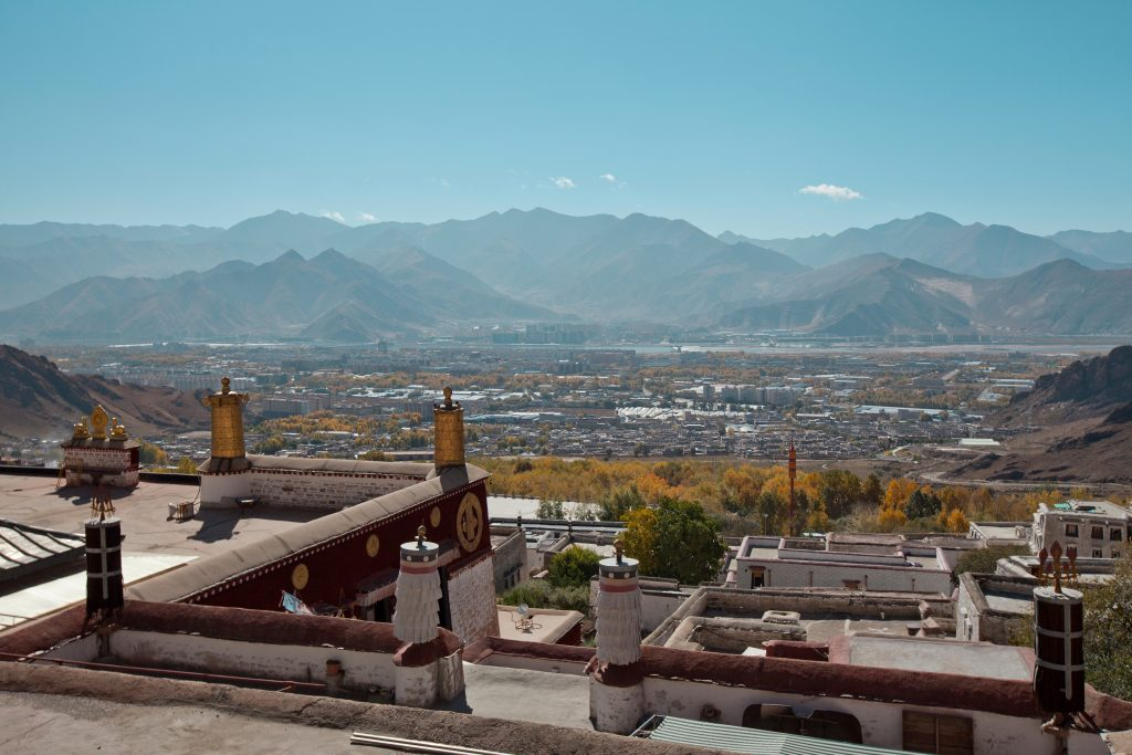 View on Lhasa from Drepung Monastery, Tibet