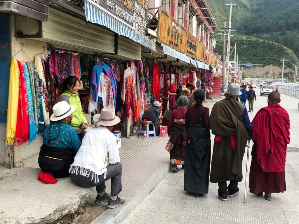 Stores in Labrang, Eastern Tibet